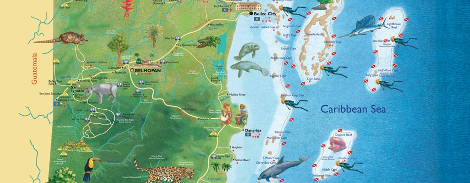 Belize Final Day – Belize Tourist Map