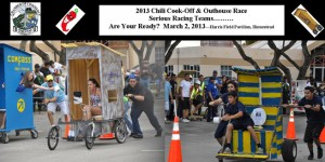 A team in the previous Homestead Chamber of Commerce Chili Cook-off and Outhouse Race.