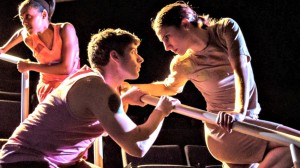 Dustin and one of his dance partners in new piece from Lucy Bowen-McCauley.