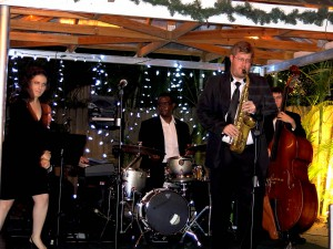 """Rooftop Terrace"" , joined by vocalist performing at Jazz in the Garden Jan 2014"