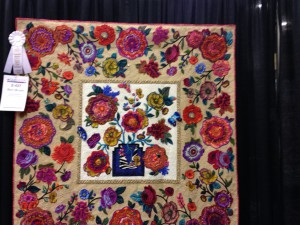 Title: Rusty Blooms. Quilt created by Cheryl Kerestes of Wyoming, PA.