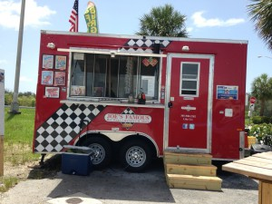 Joe's Food Truck Hwy 1 South, right side, in parking lot of Bait and Tackle Shop, Florida City