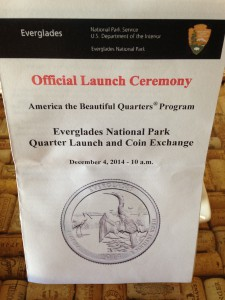 Cover of the Program for the Launch of the Everglades Quarter
