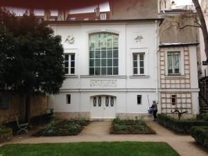 Exterior Wall of Studio of Eugene De La Croix and Partial View of Garden