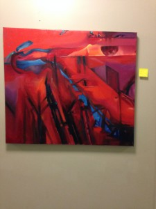 One of the Paintings on Display at Phicol Williams Community Center.