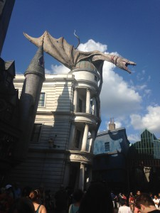 Dragon Atop Building in Diagon Alley, Universal Studios Park