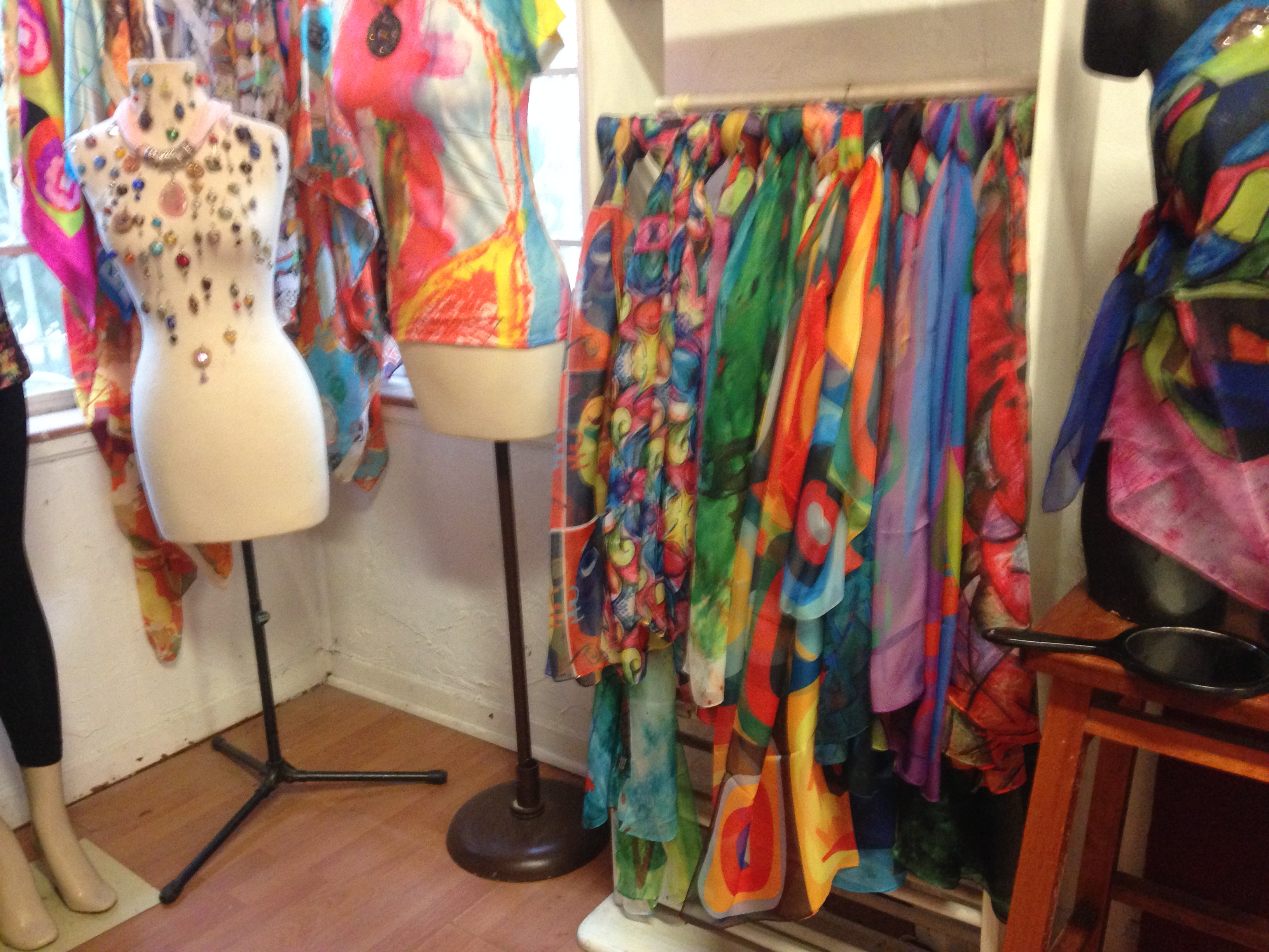 Beautiful scarves and other wearable art