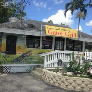 Gator Grill on the Way to the Everglades National Park